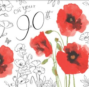 NES20 – 90th Birthday Card For Her